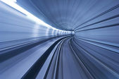 Metro tunnel in high speed — Stock Photo