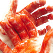 Bloody hands — Stock Photo #6582306
