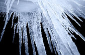 Icicle on a black background — Stock Photo