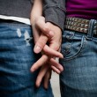 Royalty-Free Stock Photo: Detailed image of a young couple holding hands