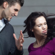 Young woman gets slapped by her boyfriend — Stock Photo #6476070