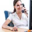 Young businesswoman talking on the phone — Stock Photo #6476111