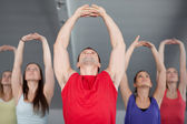 A group of young in aerobics class — Stock Photo
