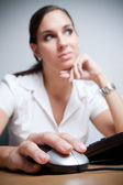 Young businesswoman contemplating — Stock Photo