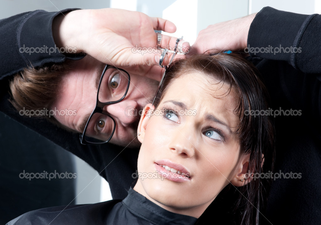 Секс с клиентом в парикмахерской фото 791-719