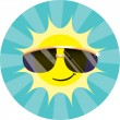 Cool Sun Wearing Sunglasses — Stock Photo