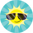 Cool Sun Wearing Sunglasses — Stock Photo #6526523