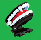 Vampire Chattering Teeth — Stock Photo