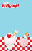 Picnic Party Invitation Design — Stock Photo