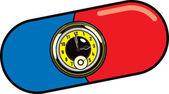 Pill Watch Illustration — Stock Vector