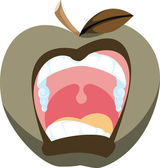 Bad Apple Illustration — Stock Photo