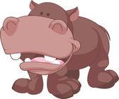 Cartoon Hippopotamus Illustration — Stock Vector