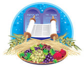 Shavuot - talent to Jews of a Torah on mount Sinai at the Outcome from Egypt — Stock Photo