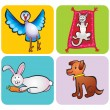 Animals children&#039;s drawing - Stockfoto
