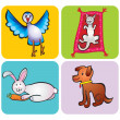 Animals children&#039;s drawing -  