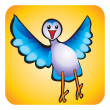 Bird children&#039;s drawing - Stockfoto