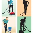 Foto de Stock  : Cleaners