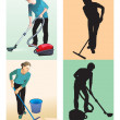 Foto Stock: Cleaners