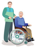 Care of invalids older persons — Stock Photo