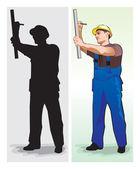 Arbetstagaren — Stockfoto