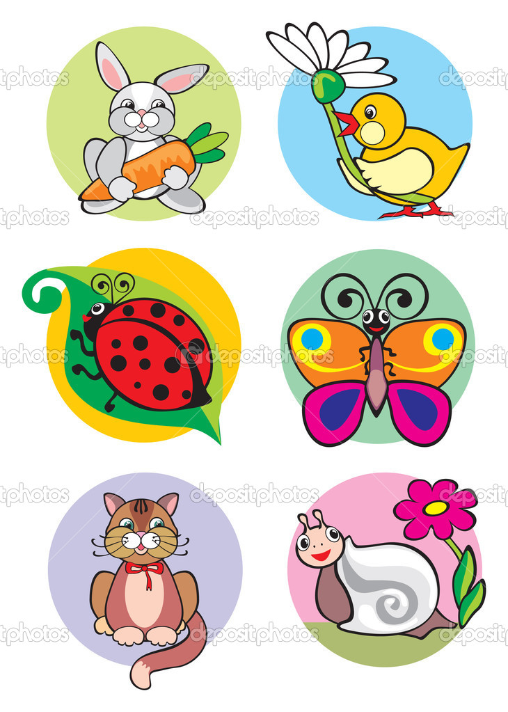Illustration of animals which can be used as application for children's clothes — Stock Photo #6510987