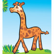 Giraffe children's drawing — Stockfoto
