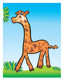 Giraffe children's drawing — Stock Photo