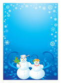 Frame snowman — Stock Photo