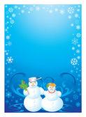 Frame snowman — Stock Photo
