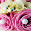 Wedding bouquet of pink roses - Stockfoto