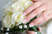 Wedding hand bouquet — Stock Photo