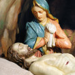 Jesus is laid in the tomb — Stock Photo