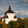 New Castle and Calvary in Banska Stiavnica, Slovakia — Stock Photo