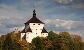 New Castle and Calvary in Banska Stiavnica, Slovakia — Stock Photo