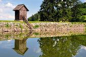 Lake Ottergrund in Banska Stiavnica, Slovakia — Stock Photo