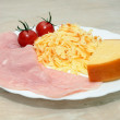 Royalty-Free Stock Photo: Ham - cheese - tomatoes