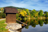 Autumn Lake reflection in Slovakia — Stock Photo