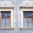 Windows of the Gothic - Renaissance building, the Gallery of Jozef Kollar — Stock Photo