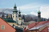 Banska Stiavnica in winter, Slovakia UNESCO — Stock Photo