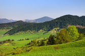 Liptovska luzna - paesaggio primaverile sotto dei bassi tatra, slovacchia — Стоковое фото