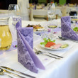Stock Photo: Tablic wedding, placemats, drink and appetizer
