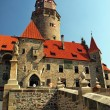 Castle Bouzov in Czech republic, tourism and holidays - Stock Photo