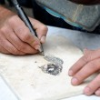 Engraver in stone table — Stock Photo #6673450