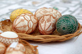 Decorated Easter eggs, tinker — Stock Photo
