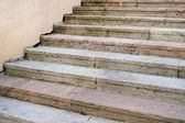 Stone stairs to the office building in the historic city center — Stock Photo