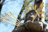 Our Lady of Sorrows pieta - calvary — Stock Photo