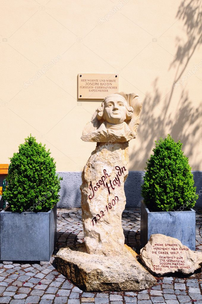 Bust of Joseph Haydn in Eisenstadt, Austria  Stock Photo #6675498