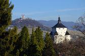 New Castle and Calvary in Banska Stiavnica — Stock Photo