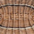 Wicker lid on the basket of brown willow — Stock Photo
