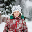 Winter portrait of adorable smiling child girl — Stock Photo #6581243